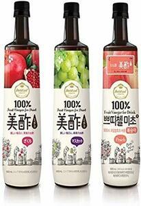 美酢 ミチョ 飲み比べ3本セット 各900ml (ざくろ・マスカット・もも)