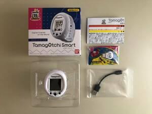 (1)【美品】バンダイ たまごっちスマート 25周年 アニバーサリーセット/BANDAI Tamagotchi Smart 25th Anniversary/白 USB充電式