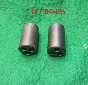 2個1組3つ穴フェライトコアノイズ防止に長さ28mm直径16mmのフェライトコアに5mmの穴が3個送料全国一律普通郵便120円