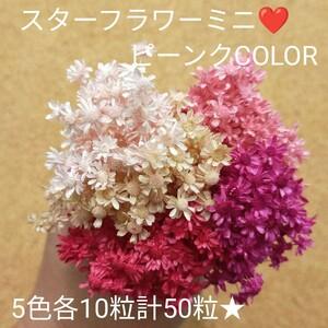 ハーバリウムボールペン レジン アクセサリー 花材セット 気まぐれ素材 ピーンク