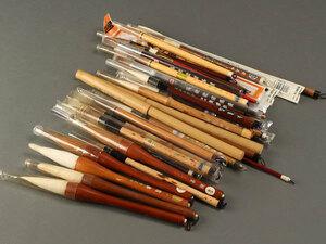 【琴》送料無料 書道具 班竹など筆まとめて KA068