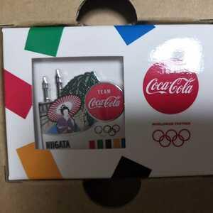 【新品送料無料】コカ・コーラ オリンピック聖火リレー 都道府県ピンバッジ 新潟