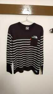 THE NORTH FACE ザノースフェイス ボーダー 長袖Tシャツ ポケットTシャツ ブラックホワイト M 新品未使用!