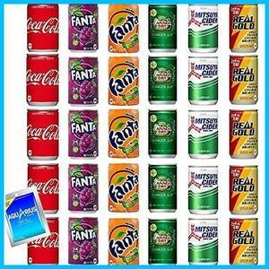 炭酸飲料 缶 160ml 詰め合わせ Bセット 6種 合計30本 ( コーラ ファンタ 三ツ矢サイダー リアルゴールド ジンジャーエール