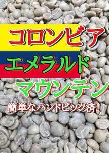エメラルド・マウンテン200gコーヒー生豆!焙煎してません!簡単なハンドピック済