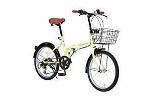 新品アイボリー Raychell(レイチェル) 20インチ 折りたたみ 自転車 FB-206R シマノ6段変速 フロEW04