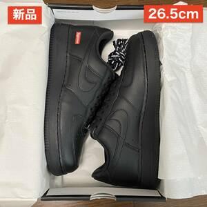 【新品】 US8.5 26.5cm Supreme Nike Air Force 1 Low 黒 ブラック Black シュプリーム ナイキ エア フォース ロー AF1 名古屋店購入 21AW