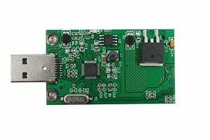 mSATA (Mini SATA) SSD → USB3.0 変換アダプター