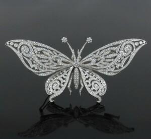 《Tiffanyティファニー ダイヤ》プラチナ蝶バタフライブローチ