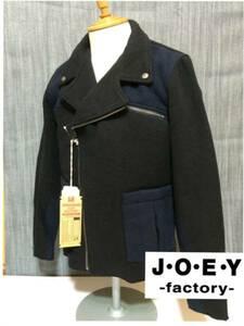 ■JOEY HOUSTONメルトンライダース新品L黒紺\19224