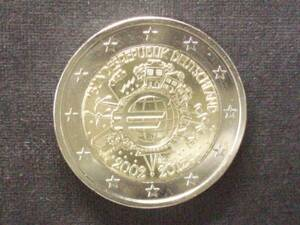 ドイツ 2ユーロ記念 2012年 ユーロ通貨10周年 D