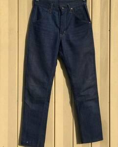 濃紺 60s Sears バッドダイデニムパンツ スリムテーパード W29L28 オリジナル ビンテージ