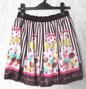 Emily Temple cute◆ラッピングマカロンスカート 茶◆新品