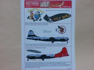Kits-World キッツワールド デカール 148074 1/48 B-29 Command 朝鮮戦争 WWⅡ アメリカ軍 爆撃機 ノーズアート