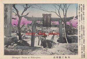複製復刻 絵葉書/古写真 東京 向島 三囲稲荷 三囲神社 明治末期 TMC_074