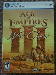 Age of Empires III Exp.:The War Chiefs (Microsoft) PC CD-ROM