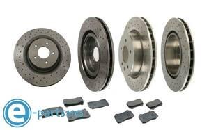 Jaguar X100 X308 XKR XJR van ten brake set rom and rear (before and after) drilled rotor & pad XJ XJ8 XF XK8 XK XK8 X-TYPE S-TYPE