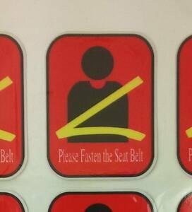 送料込 シートベルトを締めてください ステッカー (レッド)交通安全 ラベル シール 着用 ダイハツ スズキ スバル Tポイント 消化 注意