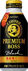 サントリー BOSS ボス プレミアムボス ブラック 390gボトル缶 24本入35%引き