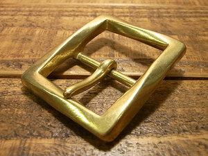 ツイスト バックル 真鍮 ブラス 35mm レザー ベルト 革 3.5cm 美錠 尾錠 日型 カスタム レザークラフトに bcl-012-35