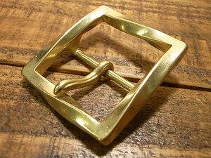 ツイスト バックル 真鍮 ブラス 40mm レザー ベルト 革 4cm 美錠 尾錠 日型 カスタム レザークラフトに bcl-012-40