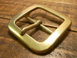 バックル 真鍮 ブラス 50mm レザー ベルト 革 5cm 美錠 尾錠 日型 カスタム レザークラフトに bcl-013-50
