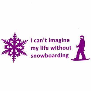 10cm【スノーボードなしの人生は考えられない】ステッカー2