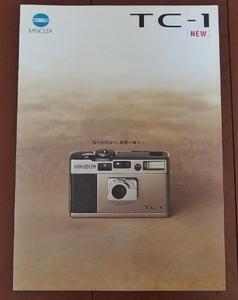 camera valuable materials * Minolta *MINOLTA *T C-1 catalog *