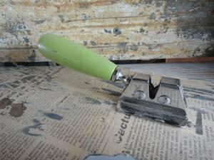【イギリス製アンティークシャープナー】フランス蚤の市古道具包丁研ぎ砥石ブロカントシャビー