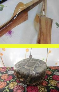 (送料無料) 22.980円 沖縄三線専用 透明塗り棹とチーガ(強化張胴)セット