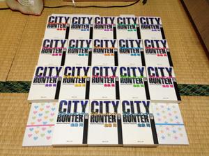 CITY HUNTER シティーハンター 文庫版 北条司 全18巻 全巻初版 中古 全巻セット 全新刊時発売日書店購入品