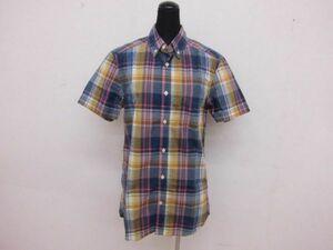 (46648)H&M エイチアンドエム L.O.G.G  半袖 シャツ  CN165/84A  チェック柄  USED