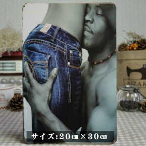 ブリキ看板20×30cm Sexy American レトロアメリカンガレージ看板 インテリア・アンティーク雑貨★TINサイン★