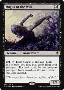 え黒 意志の大魔術師 1枚(4枚在庫s 英 良品 C16)/Magus of the Will(MTG