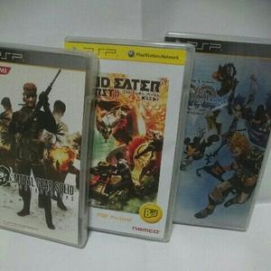 PSP メタルギアソリッドOPS キングダムハーツバースバイスリープ ゴッドイーターバースト 人気作品 3本セット