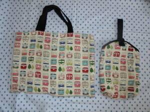 手作り 絵本バッグ★レッスンバッグとシューズバッグ、上履き入れ 電車 ハンドメイド