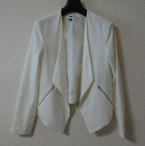 H&M エイチアンドエム ジャケット 白 ホワイト サイズ38 ymdnrk n0319
