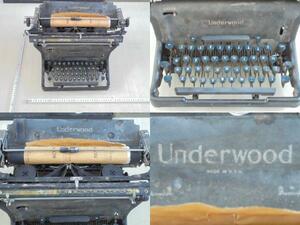 AKa5723◆隼◆Underwood アンティーク タイプライター MADE IN USA ジャンク 旧家蔵出骨董初だし