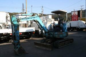 Hitachi building machine EX30U Yumbo piping attaching small turn rubber caterpillar