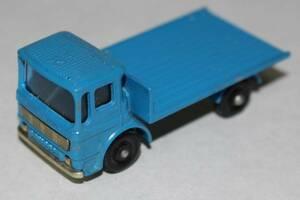 新☆K409 ミニカー トラック 青系 マッチボックス SITE HUT TRUCK イングランド製 当時物 寸法(高さ2.5cm 幅6.2cm 奥行3cm) 重さ30g