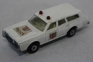 新☆K434 ミニカー 白系 マッチボックス パトロールカー ポリスカー 警察車両 1971年 イングランド製 当時物