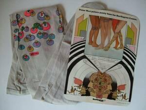 1970s Peter Max paints panty hose ピーターマックス パンティーストッキング for Burlington Cameo. 当時物 未使用品