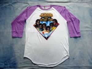 USA製 スクリーンスターズ 1984年 ジャクソンズ マイケルジャクソン ビクトリーツアー ペプシ PEPSI ベースボールTシャツ 送料無料