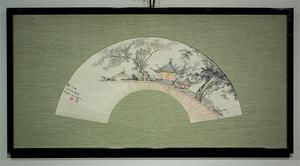 王秋岑 1964年作 鏡框 真作 中国 絵画