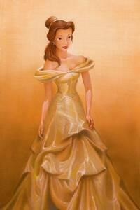 Disney Fine Art ディズニーファインアート 美女と野獣 ベル 限定 レア John Rowe