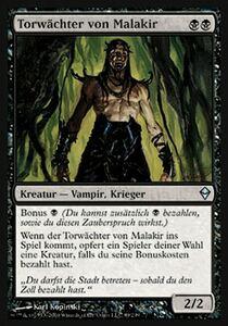【ドイツ語】 ZEN マラキールの門番/Gatekeeper of Malakir 【NM】 黒 C