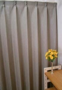 ★激安カーテン市場★100x135ドレープカーテン/ライトブラウン2枚組丈直し無料