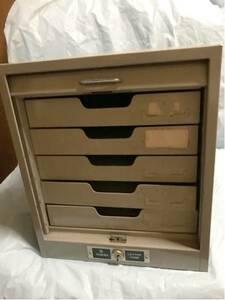 * Showa старый retro .. shutter есть steel полки 5 уровень дверь металлический TOHO LETTER CASE письмо кейс место хранения промышленность серия выдвижной ящик офисная работа документы