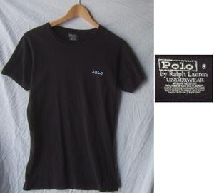 Polo by Ralph Lauren UNDERWEARラルフローレンPOLOワンポイント半袖Tシャツ/古着アメカジブラックS
