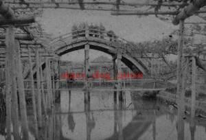複製復刻 絵葉書/古写真 東京 亀戸天神 太鼓橋と池 明治期